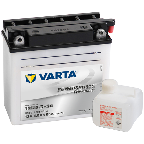 VARTA® Powersports Freshpack battery - reliable starting power in hot and cold weather, robust construction