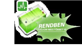 A zöld akkumulátor azt jelenti, hogy minden OK vele