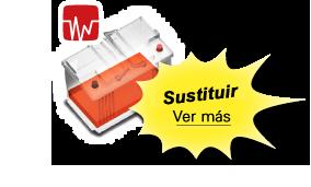 La batería roja significa que hay que cambiar la batería