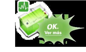La batería verde significa que la batería está en buen estado