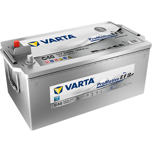 The unique VARTA® Promotive EFB is the most effective battery ever for high energy demanding commercial vehicles.