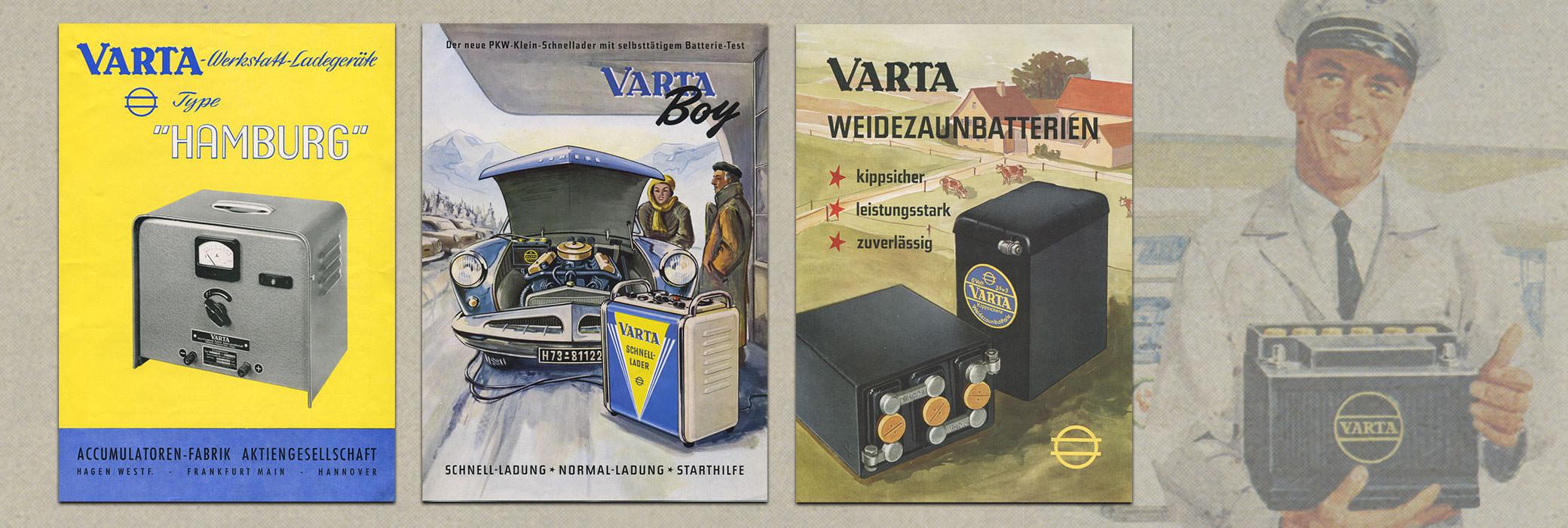 Gekleurde VARTA® posters uit de jaren zeventig