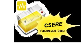 A sárga akkumulátor azt jelenti, hogy ki kell cserélni