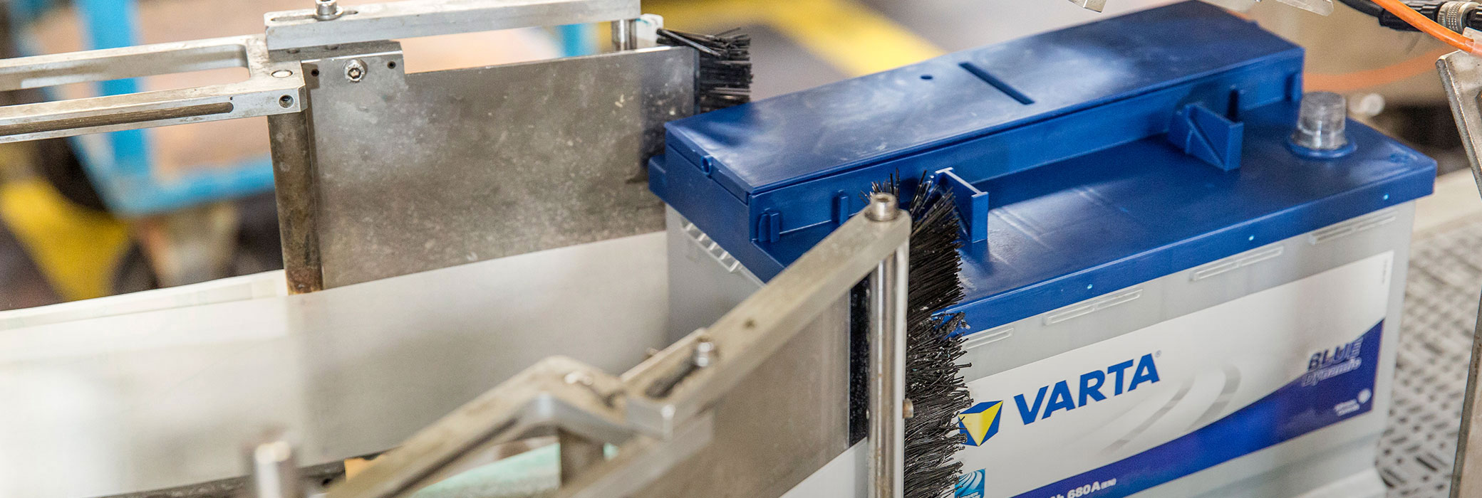 Batterie VARTA® dans une machinerie en production
