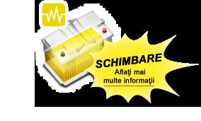 Bateria galbenă înseamnă că bateria trebuie înlocuită