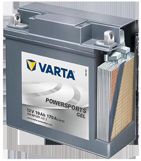 A zselés VARTA® akkumulátor részletes kivágása