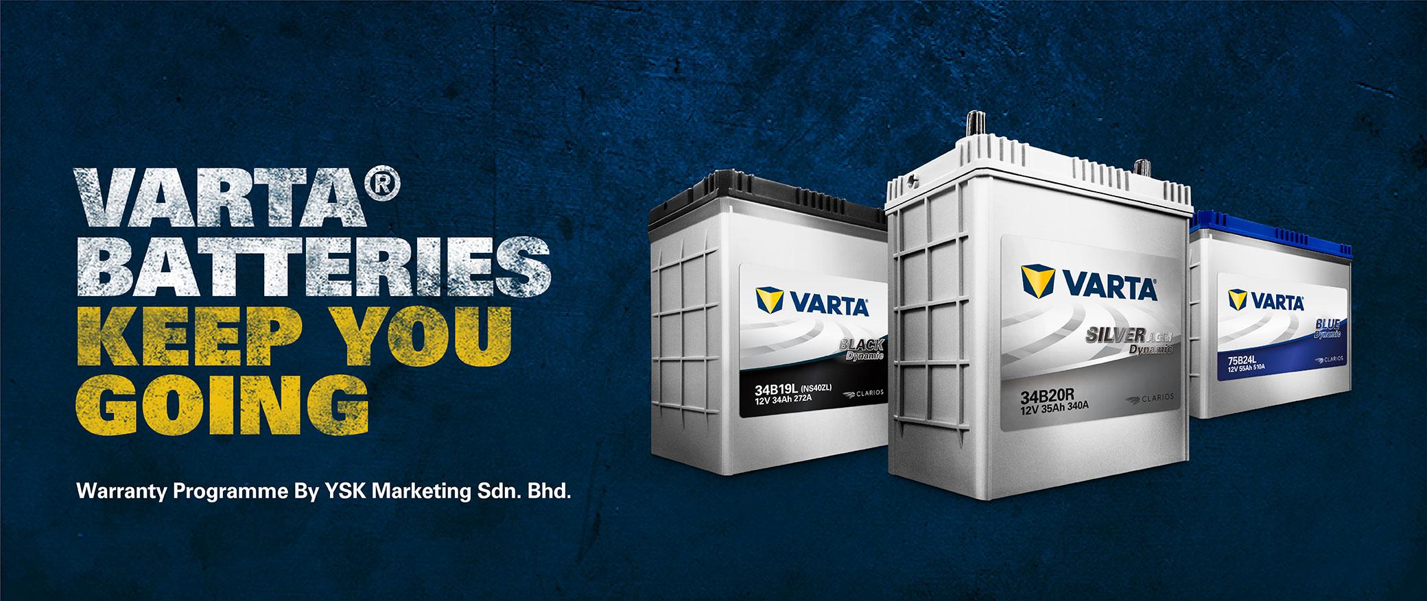 Varta Batteries keeps you going - warranty program