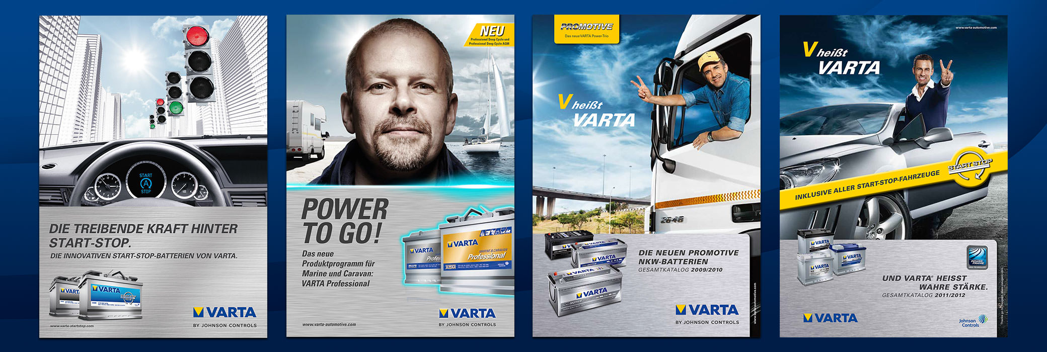 Four colorful posters from VARTA®