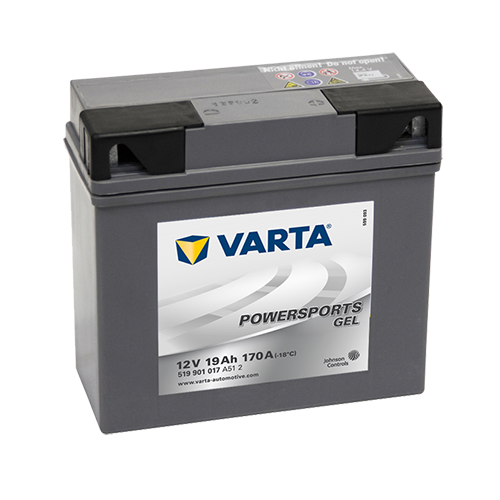 VARTA® Powersports Gel batteries are absolutely maintenance-free and are supplied fully charged so that they're immediately ready to go.