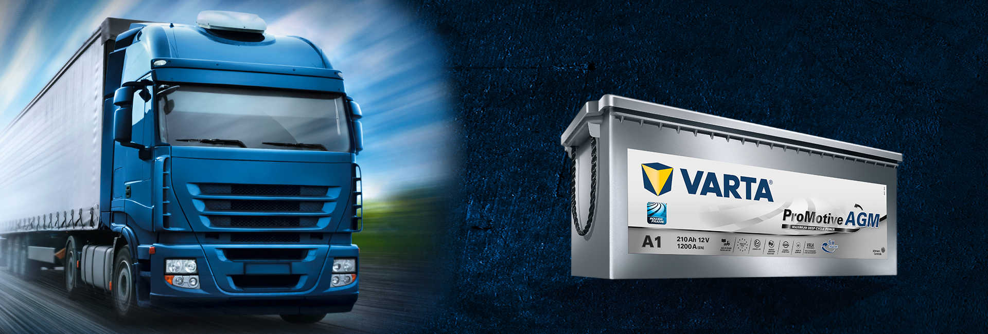 767adcfc VARTA® AGM technology for trucks